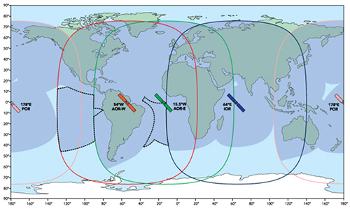 Inmarsat coverage